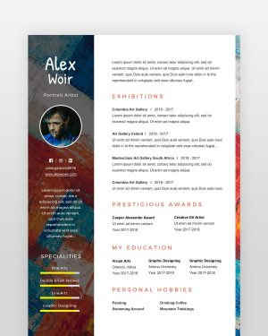 Artist and Painter Resume Template - by printableresumes.com