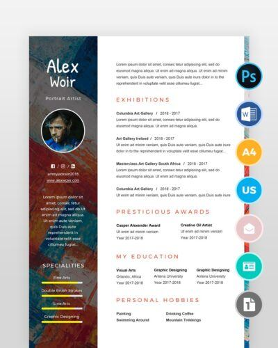 Artist-and-Painter-Resume-Template2 - by printableresumes.com