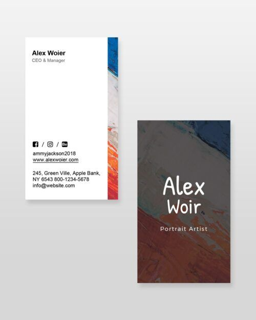 Artist-and-Painter-Resume-Template_business-card - by printableresumes.com