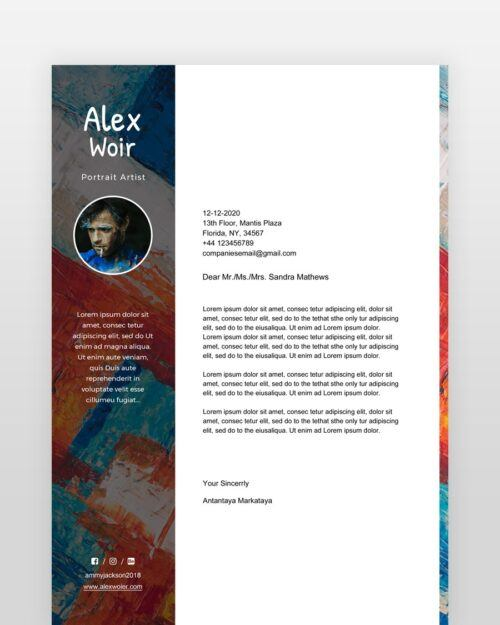 Artist-and-Painter-Resume-Template_coverletter - by printableresumes.com