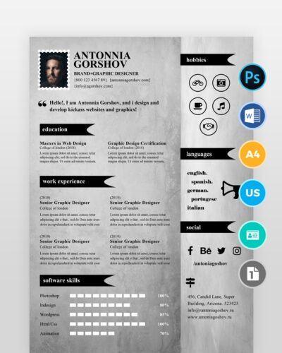 Artistic-Designer-Resume-Template2 - by printableresumes.com