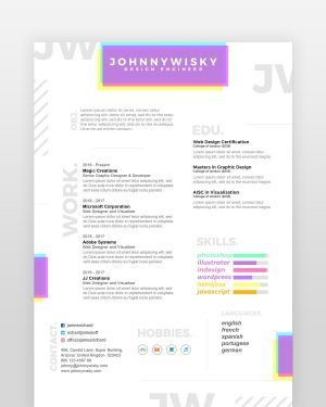 Artistic Resume Template - by printableresumes.com