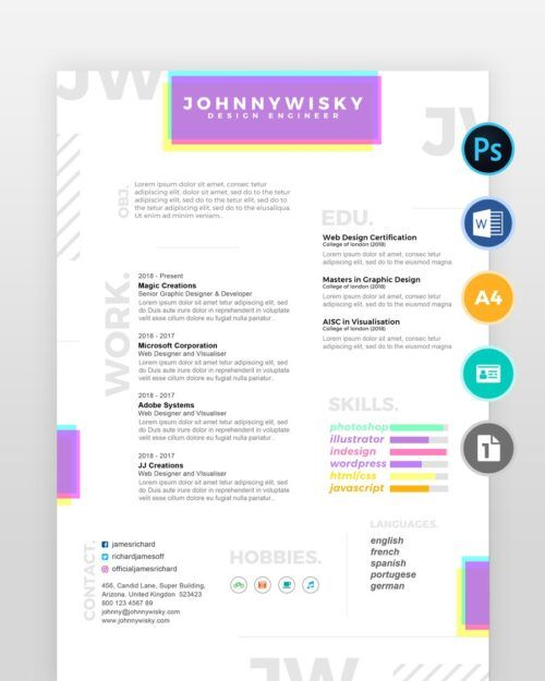 Artistic-Resume-Template2 - by printableresumes.com
