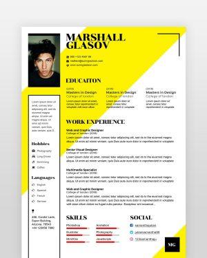 Beginner Designer Resume Template - by printableresumes.com