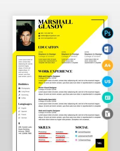 Beginner-Designer-Resume-Template2 - by printableresumes.com