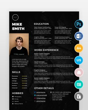 Black-Designer-Resume-Template2 - by printableresumes.com