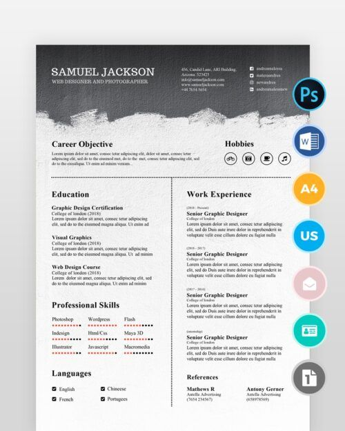 Black-and-White-Resume-Template2 - by printableresumes.com