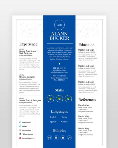 Blue Clean Resume Template