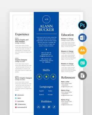 Blue-Clean-Resume-Template2 - by printableresumes.com