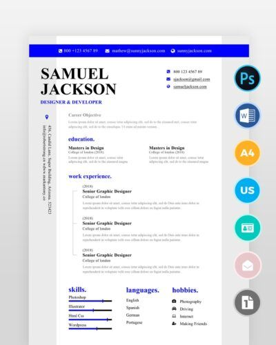 Blue-Designer-Resume-Template2 - by printableresumes.com