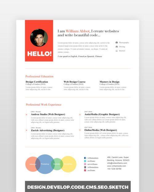 Clean Designer Resume - by printableresumes.com