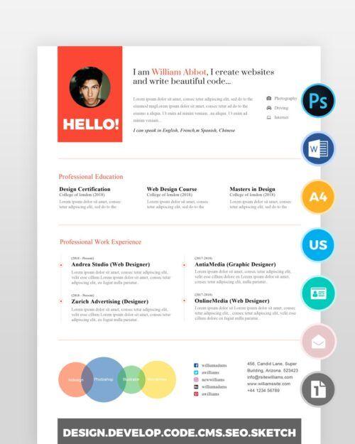 Bright-Designer-Resume-Template2 - by printableresumes.com