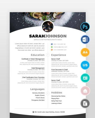 Cheff-Resume-Template2 - by printableresumes.com