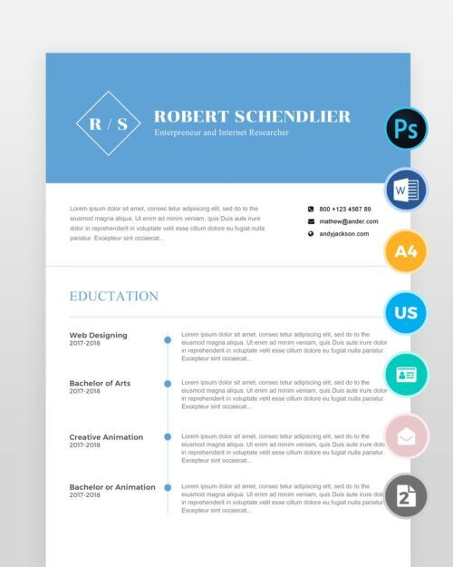 Clean-Designer-Resume-Template2 - by printableresumes.com