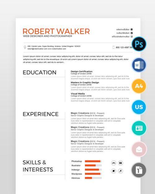 Clean-Graphic-Designer-Resume2 - by printableresumes.com