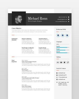 Clean Minimal Resume Template - by printableresumes.com