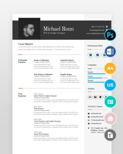 Clean-Minimal-Resume-Template2 - by printableresumes.com
