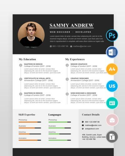 Clean-One-Page-Resume-Template2 - by printableresumes.com