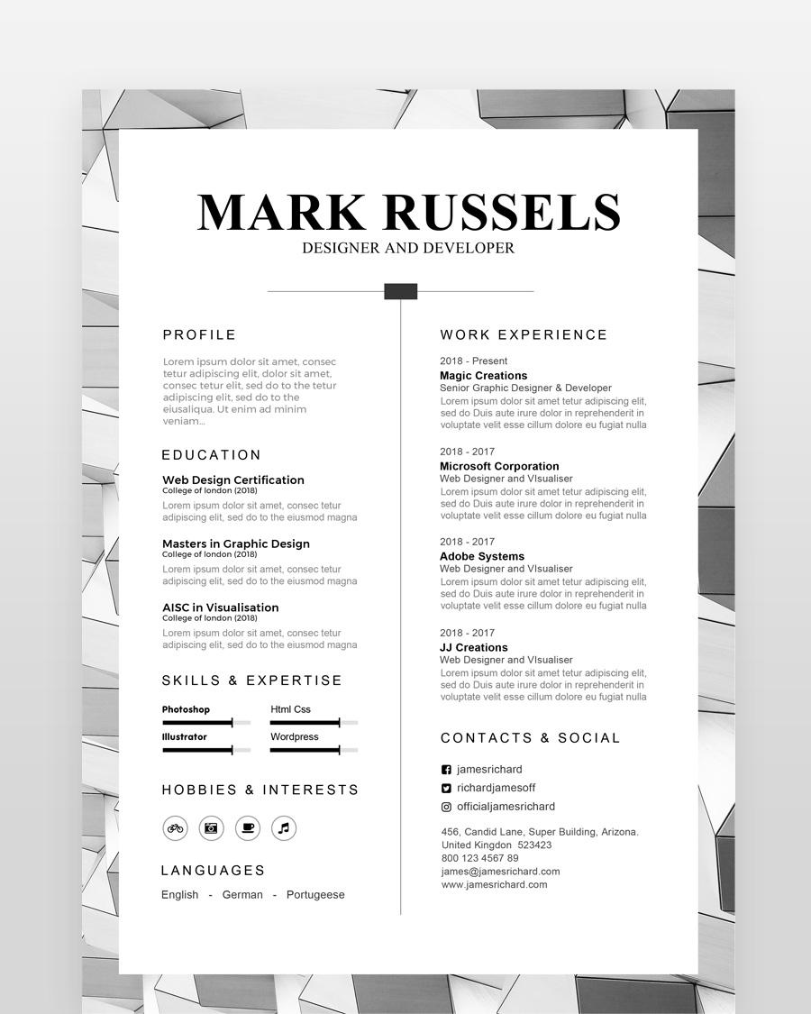 Clean Professional Resume - by printableresumes.com
