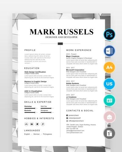 Clean Professional Resume2 - by printableresumes.com