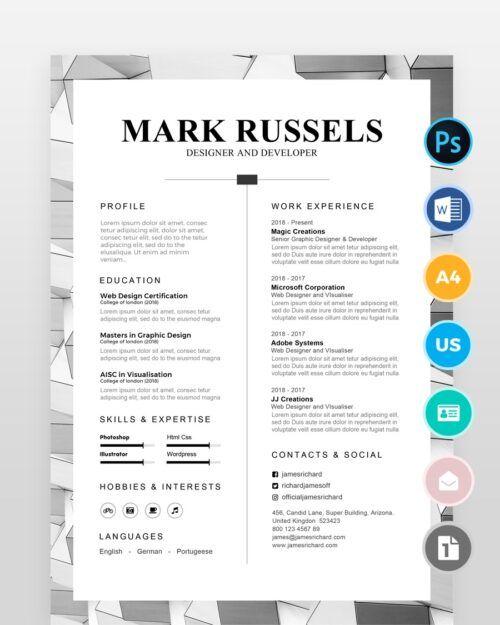 Clean Professional Resume2 - by printableresumes.com