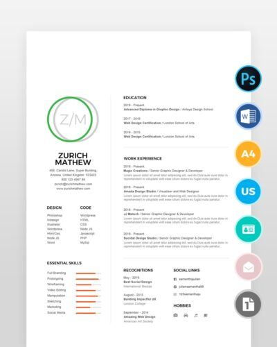 Clean-Simple-Resume-Template2 - by printableresumes.com
