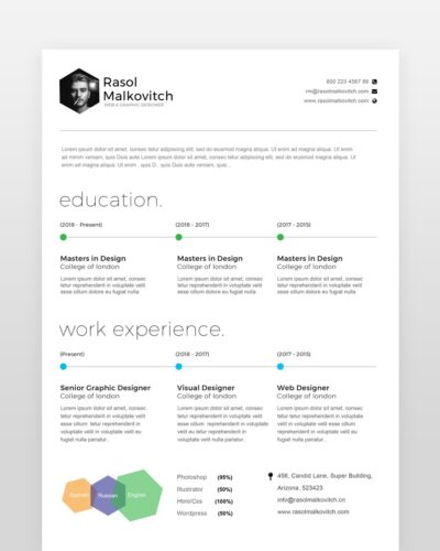 Clean Web Designer Resume - by printableresumes.com