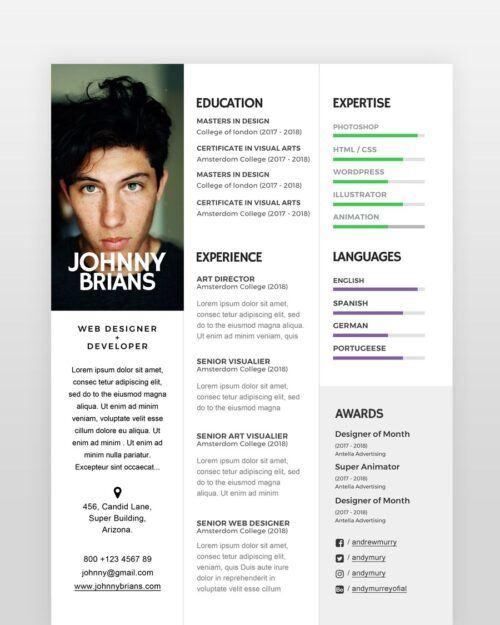 Clean and Minimal Designer Resume