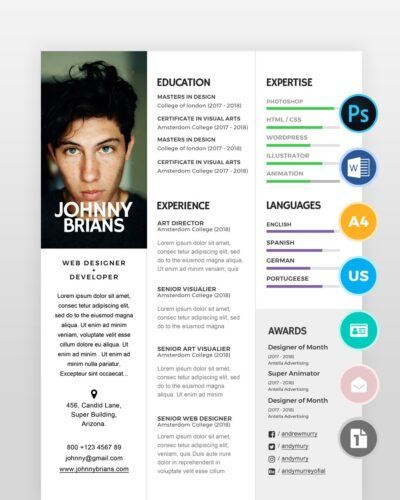 Clean-and-Minimal-Designer-Resume2 - by printableresumes.com