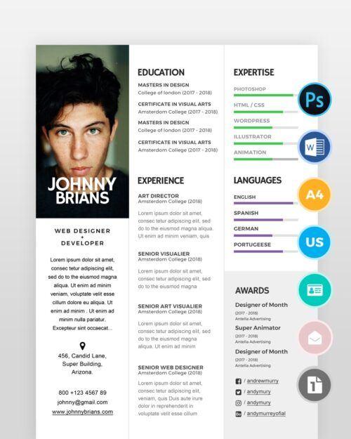 Clean-and-Minimal-Designer-Resume2 - by printableresumes.com
