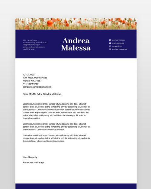 Colorful-Floral-Resume-Template_cl - by printableresumes.com