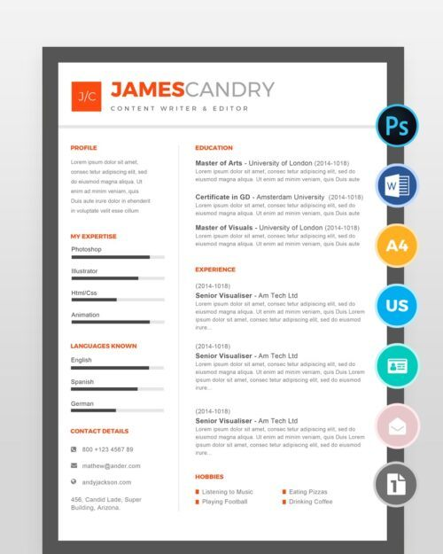 Content-Writer-Resume-Template2 - by printableresumes.com