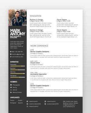 Creative Designer Resume Template - by printableresumes.com