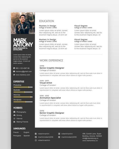 Creative Designer Resume Template - by printableresumes.com