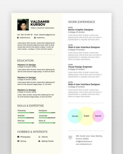Creative Graphic Designer Resume - by printableresumes.com