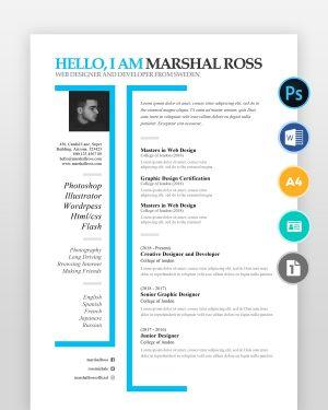 Creative-One-Page-Designer-Resume2 - by printableresumes.com