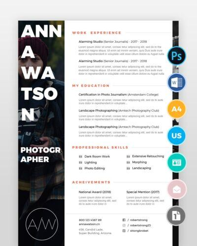 Creative-Photographer-Resume2 - by printableresumes.com