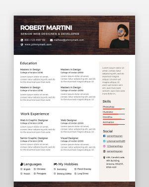 Creative Resume Template - by printableresumes.com