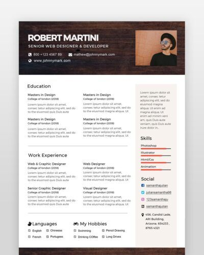 Creative Resume Template - by printableresumes.com