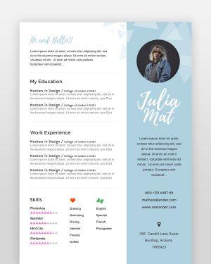 Designer Resume - by printableresumes.com