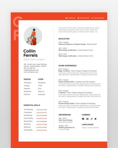Experienced Designer Resume Template