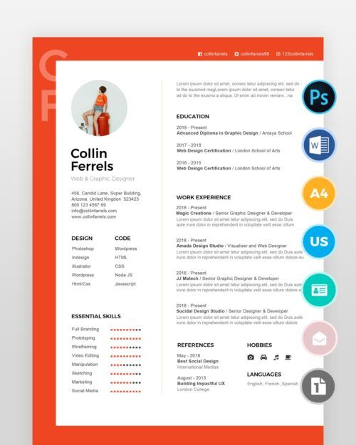 Experienced-Designer-Resume-Template_2 - by printableresumes.com