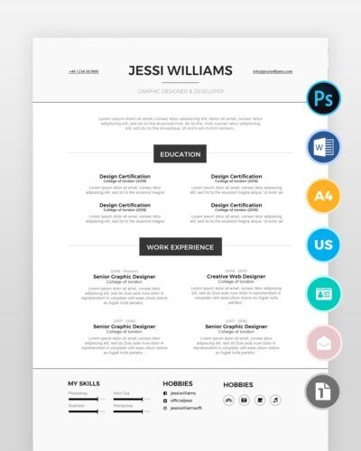 Experienced-Web-Designer-Resume-2 - by printableresumes.com