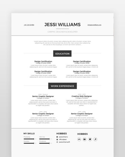 Experienced Web Designer Resume - by printableresumes.com