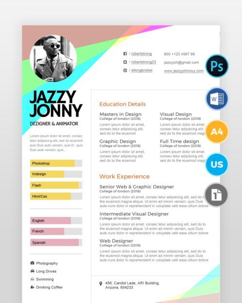Fashion-Designer-Resume-Template2 - by printableresumes.com