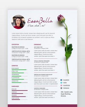 Florist Resume Template - by printableresumes.com