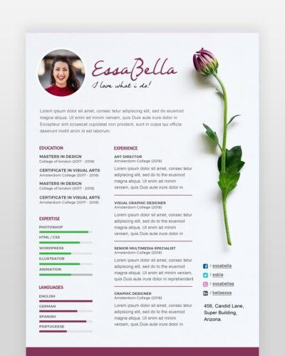 Florist Resume Template - by printableresumes.com