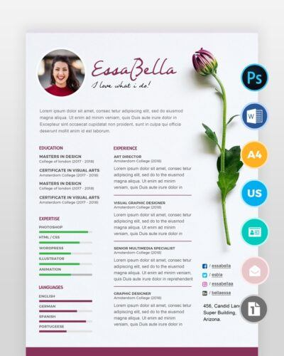 Florist-Resume-Template2 - by printableresumes.com
