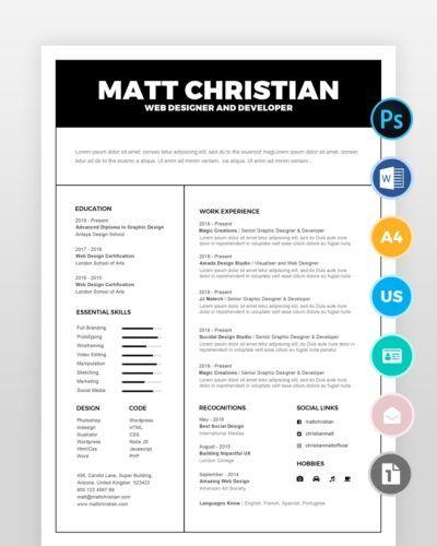 Generic-Resume-Template2 - by printableresumes.com