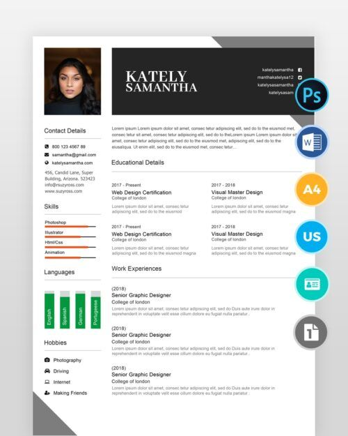 Girl-Designer-Resume-Template_2 - by printableresumes.com